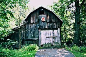 the barn.