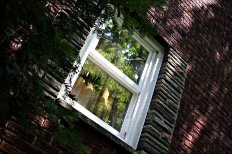 window pane.